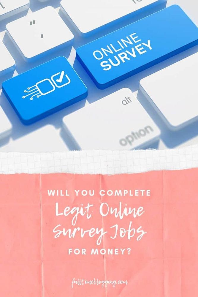 Legit Online Survey Jobs