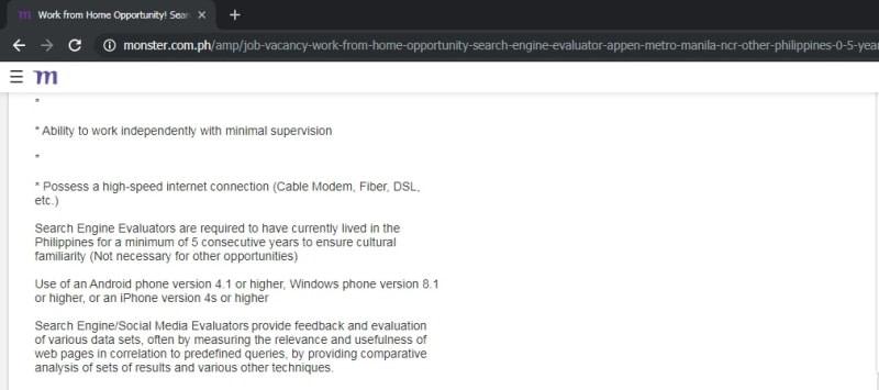 search engine evaluator jobs online