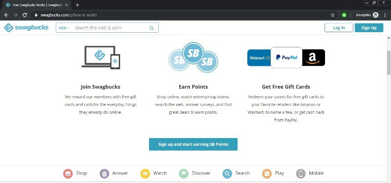 how to make money online with swagbucks